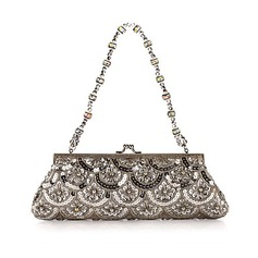 Gorgeous Satin with Sequins Evening Handbag/Clutches (012025188)