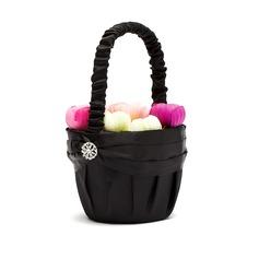 Puhdas Flower Basket sisään Satiini jossa Strassit