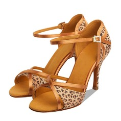 De mujer Satén Tacones Sandalias Danza latina Zapatos de danza