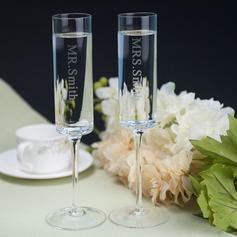 Personlig Enkel motiv Glas Rostning Flöjter (Sats Om 2)