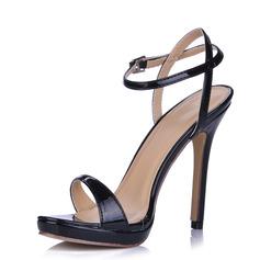 Kvinner Lær Stiletto Hæl Sandaler Slingbacks sko