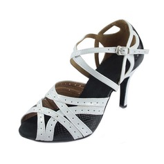 Women's Leatherette Heels Latin Modern With Ankle Strap Dance Shoes