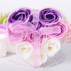 9 Pieces Rose Soap Petals In Heart Shaped Box (Set of 4 Boxes) (051017515)