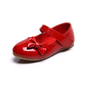 Kids' Patent Leather Flat Heel Closed Toe Flats With Bowknot