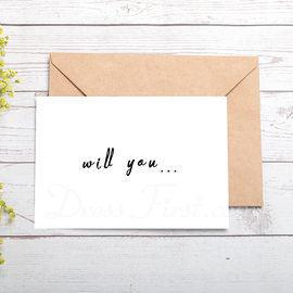 Bruidsmeisje Gifts - Speciaal Het Oog Springende Kaart Papier Bruiloft dag kaart