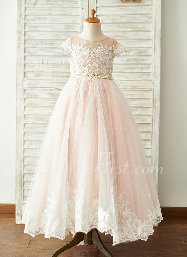 2648dc934 De Baile Princesa Sweep Brush trem Vestidos de Menina das Flores ...