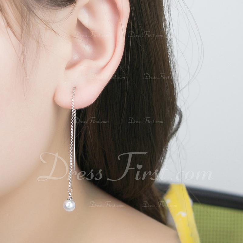 おしゃれ フェイクパール 銅 とともに イミテーションパール 女性用 ファッションイヤリング (単一片で販売)
