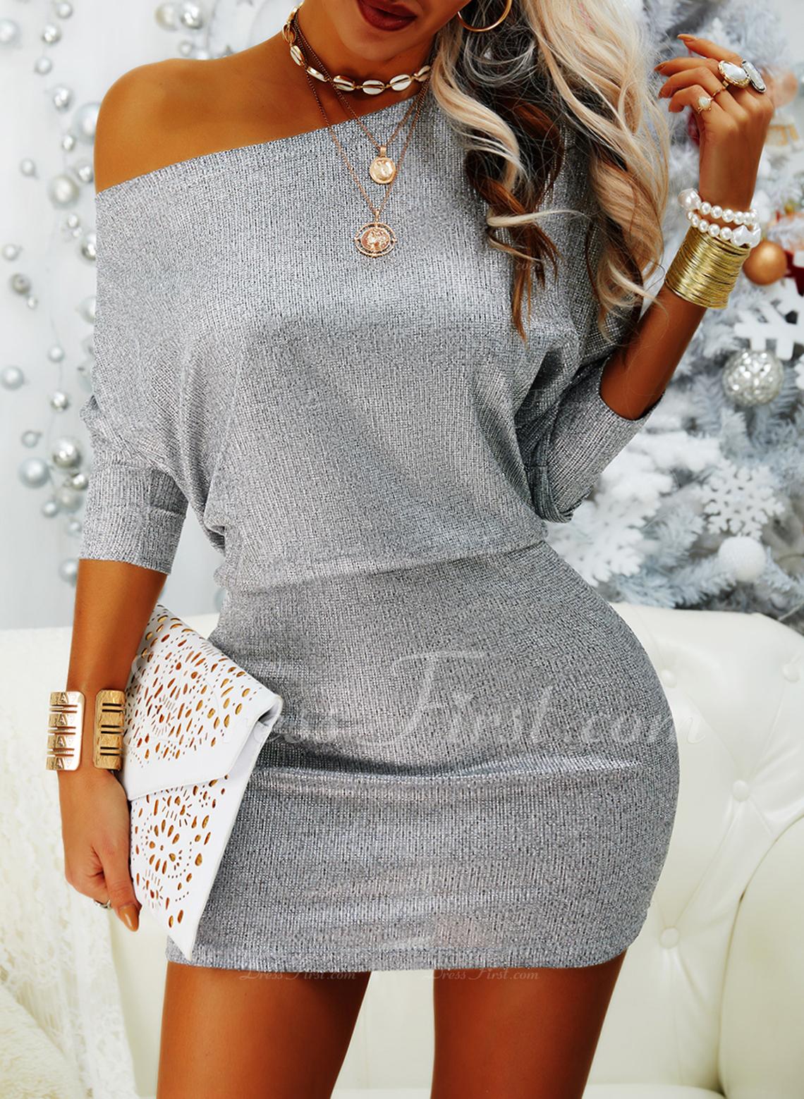 Sequins Bodycon Long Sleeves Mini Party Elegant Dresses
