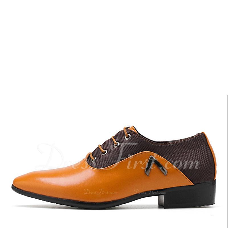 87d20826 Cargando. Color De: Marrón. Hombres Cuero Cordones Casual Trabajo Zapatos  ...