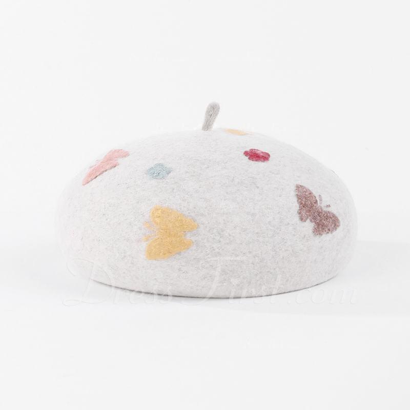 Ladies ' Prosty/Wzrok Wełna Beret Hat