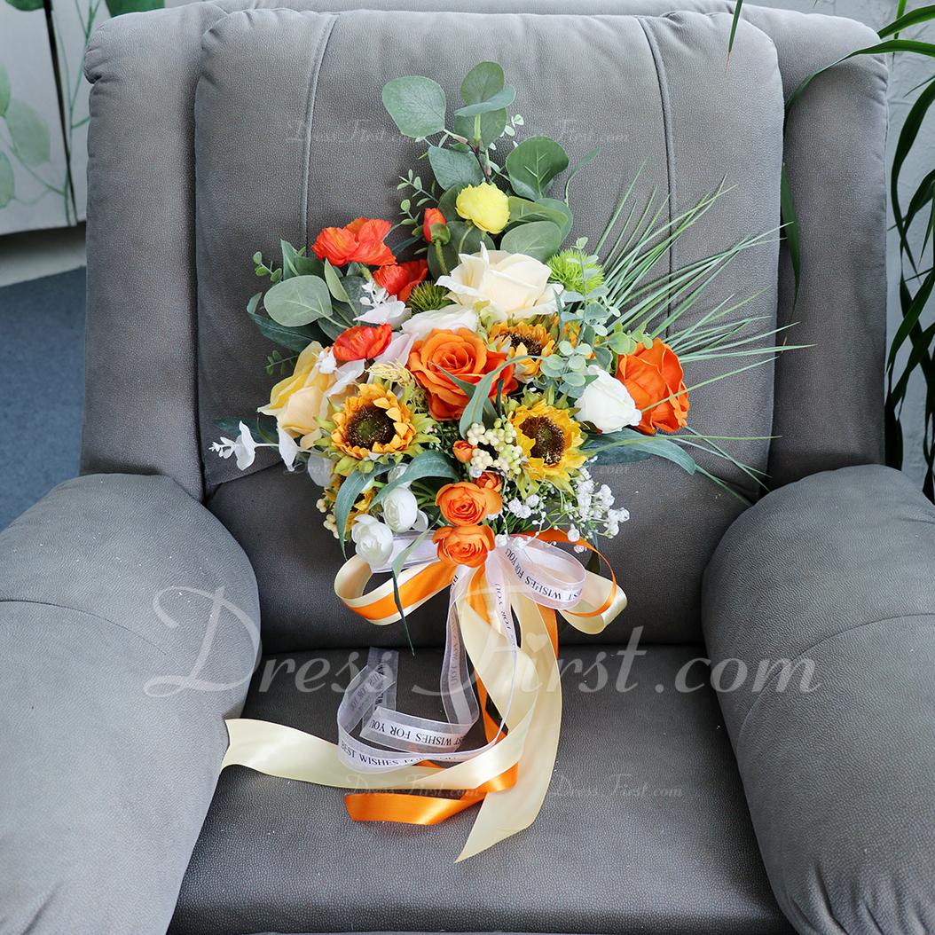 Bardzo Dowolna forma Kwiat jedwabiu Bukiety ślubne - Bukiety ślubne
