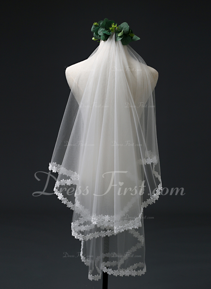 One-tier Elbow Bridal Veils