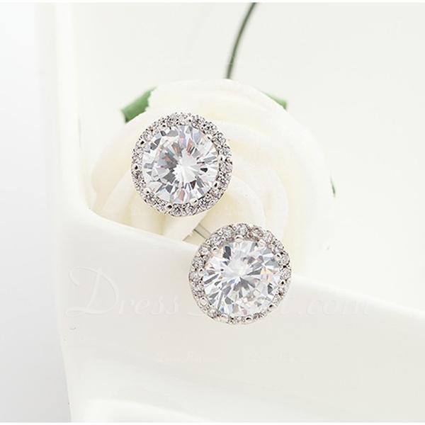 Beautiful Zircon Copper With Zircon Women's Fashion Earrings (Sold in a single piece)