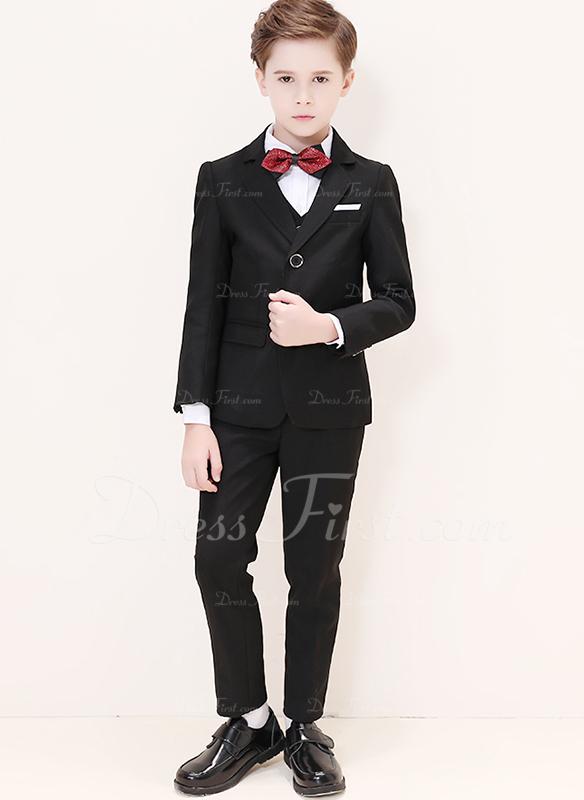 Rapazes 5 peças Clássico Roupas de Pajem /Ternos Menino Página com Jaqueta Camisa Oeste calça laço