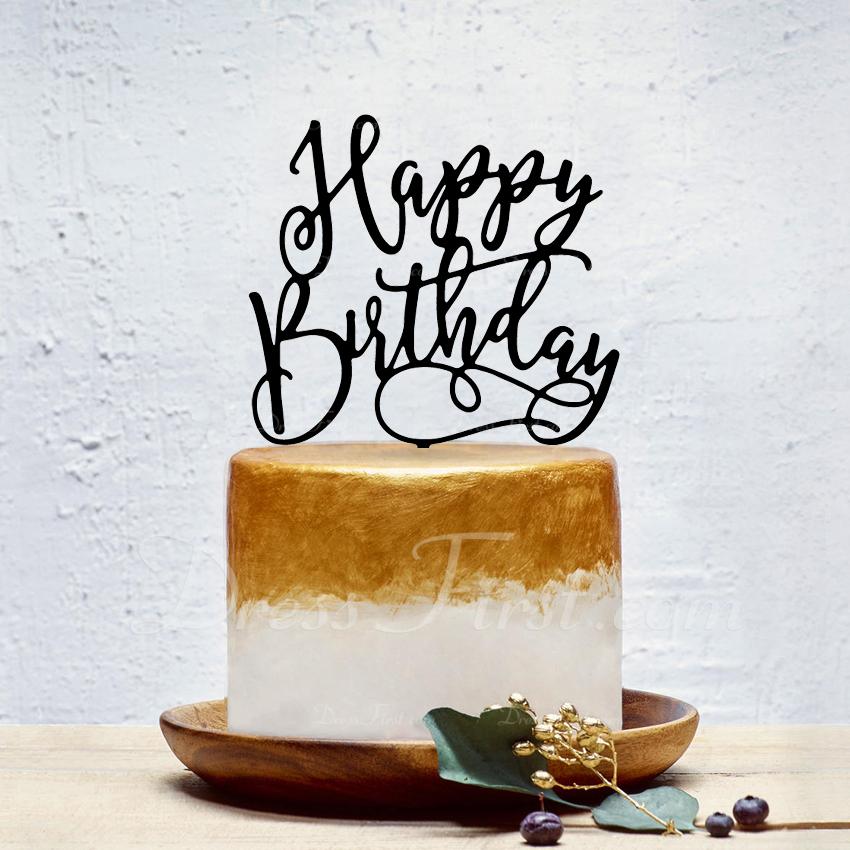 Šťastné Narozeniny Akryl Ozdoby na dort