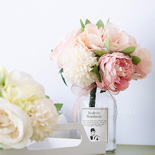 Atado a mano Flores de seda/Plástico Decoraciones (vendido en una sola pieza) -