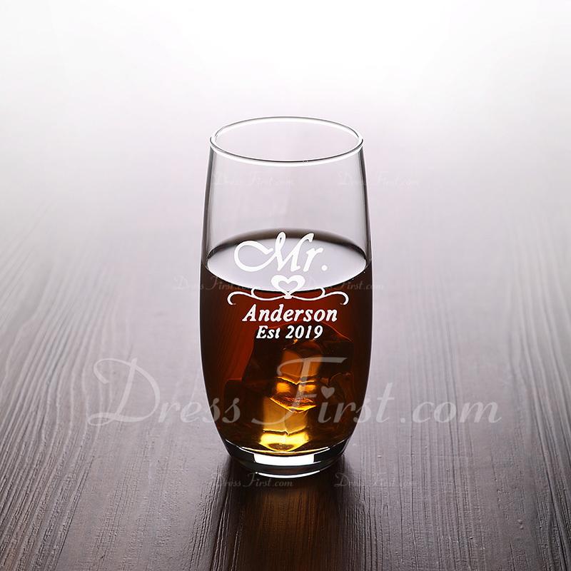 新郎ギフト - 個別の クラシック エレガント ガラス ガラス製品とバーバー