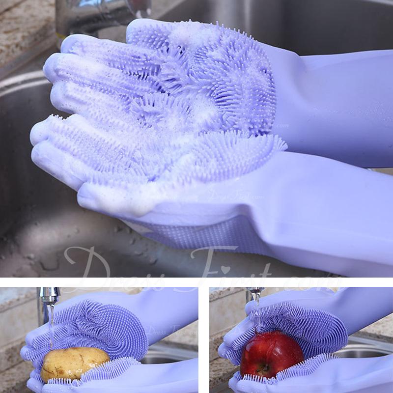 Casual Silicona Guante de limpieza