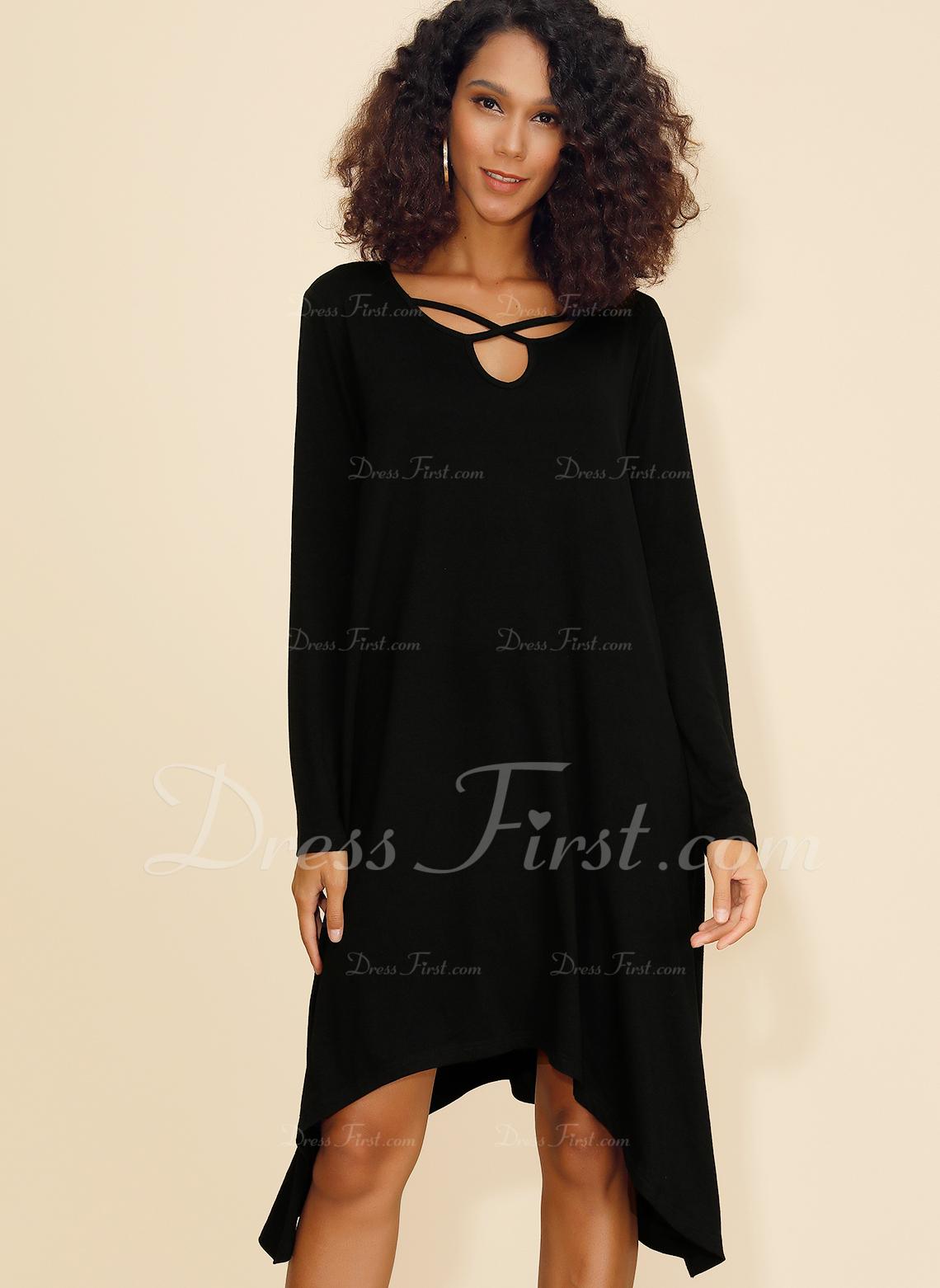 Wiskoza Z Jednolity Asymetryczny Sukienka