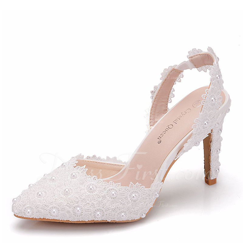 dde3f3700c Mulheres Couro Salto carretel Bombas Sapatos abertos com Aplicação ...