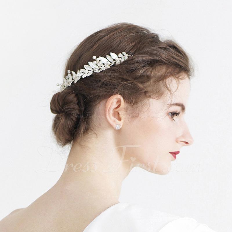 Damer Elegant Legering/Imitert Perle Pannebånd med Venetianske Perle