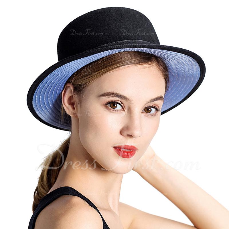 Unisex Klasyczny/Prosty Wełna Bowler / Cloche Hat