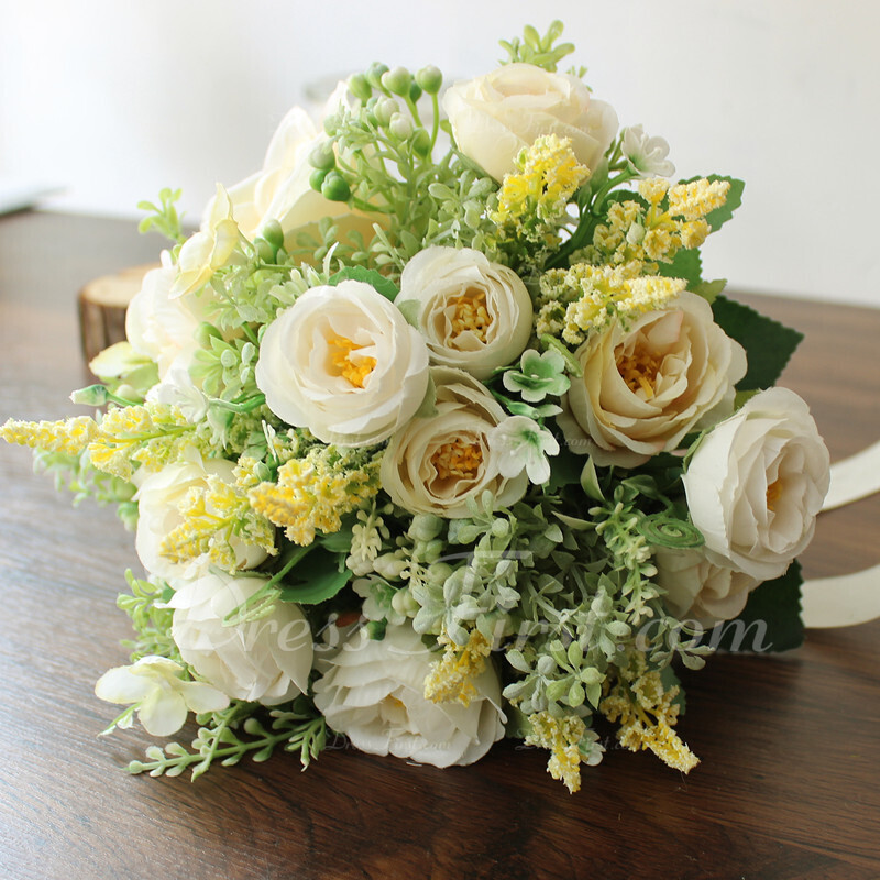 Comely Round Silk Flower Bridal Bouquets/Bridesmaid Bouquets - Bridal Bouquets/Bridesmaid Bouquets