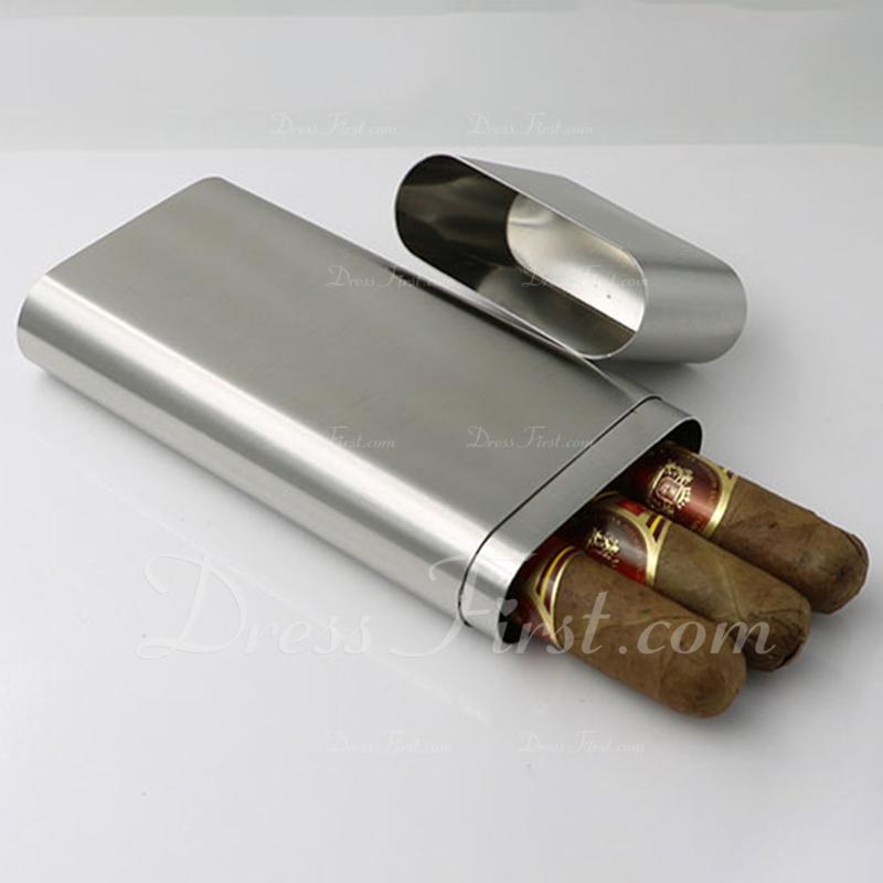 花婿の付添人のギフト - 現代 ステンレス鋼 シガーケース
