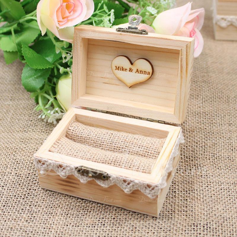 Elegant/Classic Ring Box in Wood