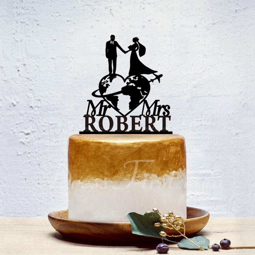 personalizované Nevěsta a ženich/Sladká láska Akryl Ozdoby na dort