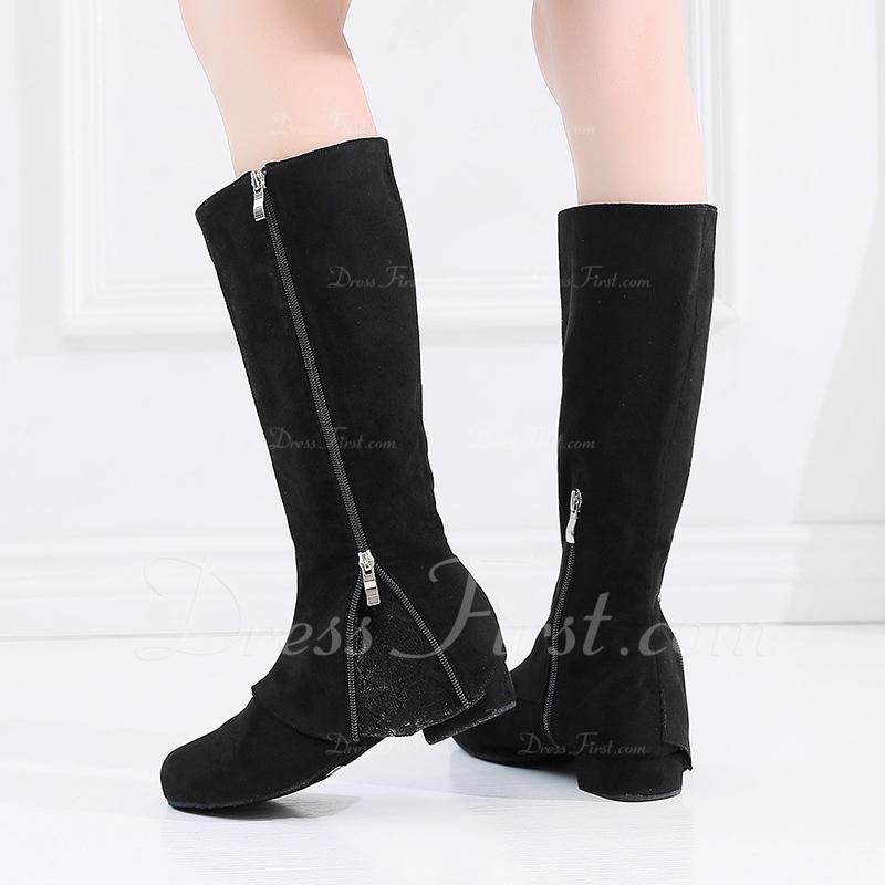 De mujer Ante botas de danza Zapatos de danza
