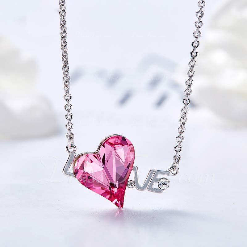 Señoras' Hermoso Crystal/cobre Crystal Collares Ella/Amigos/Novia/Para Ella