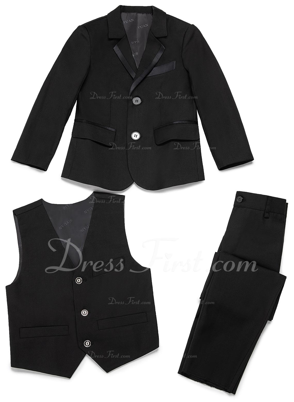 gutter 3 stykker Elegant Suits til ringbærere /Side Boy Suits med Jakke vest Bukser
