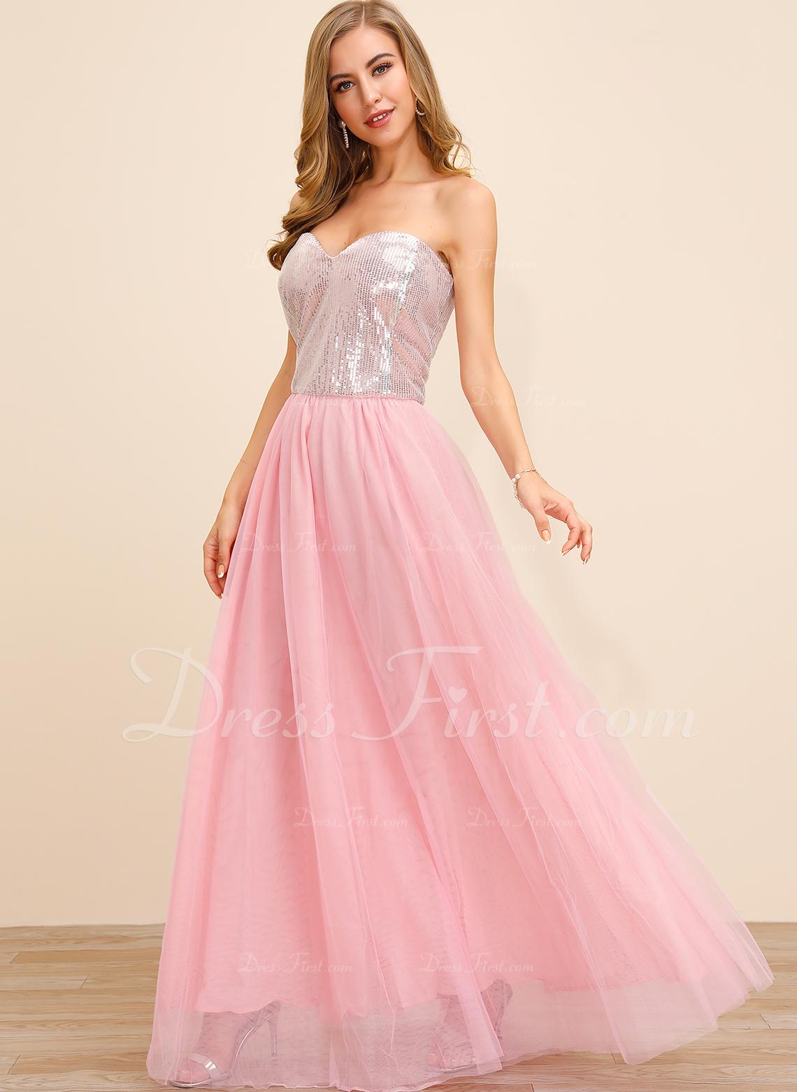 スパンコール 固体 Aラインワンピース ノースリーブ マキシ パーティー セクシー ファッションドレス