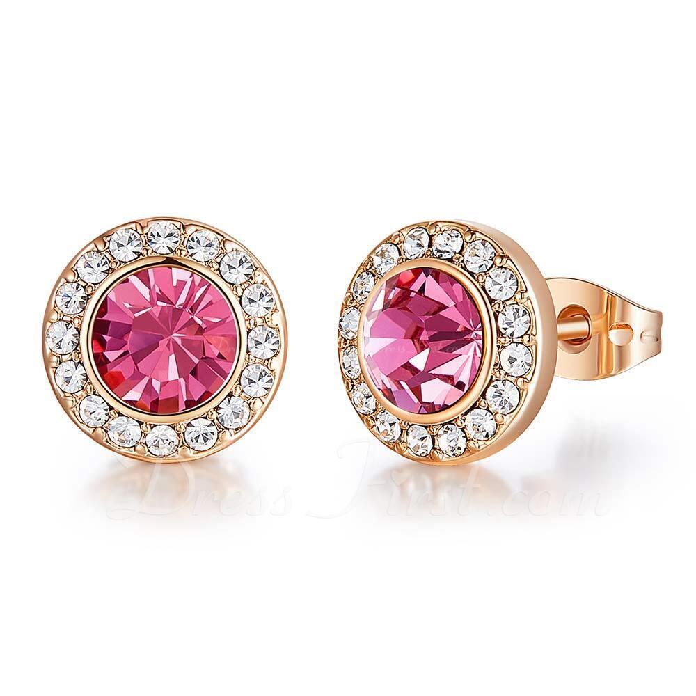 Señoras' Elegante Crystal/cobre Crystal Pendientes Ella/Amigos/Novia/La dama de honor/Para Ella
