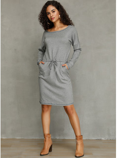 Viscosa con Impresión Sobre la rodilla Vestido