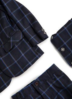 Boys 3 Pieces Plaid Ring Bearer Suits /Page Boy Suits With Jacket Vest Pants