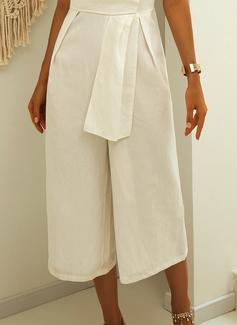 Solido Senza maniche Casuale Elegante Tute Vestiti di moda
