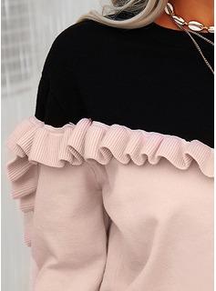 ラウンドネック カジュアル カラーブロック セーター