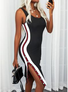 raya Cubierta Sin mangas Midi Elegante Tipo Vestidos de moda