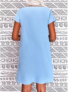 Print Camouflage Skiftekjoler Korte ærmer Midi Casual Ferie Tunika Mode kjoler