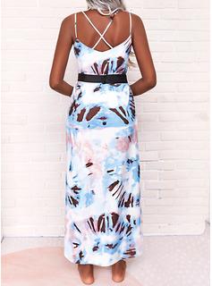 Tie Dye Impresión Vestidos sueltos Sin mangas Maxi Casual Vacaciones Tipo Vestidos de moda