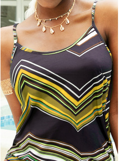 Impresión Vestido línea A Sin mangas Mini Casual Tipo Vestidos de moda