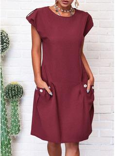 Solid Shiftklänningar Holkärm Midi Fritids Modeklänningar