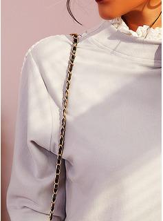 Solido Alto collo Maniche lunghe Casuale Camicie