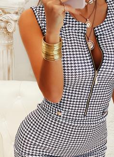 Imprimeu Conică Kolsuz Mini gündelik Zarif Moda Elbiseler