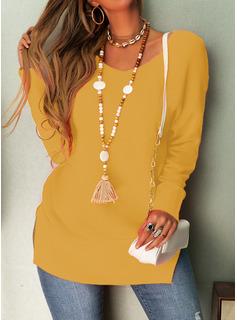 Rundhalsausschnitt Lässige Kleidung Einfarbig Pullover
