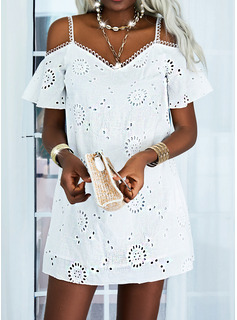 Impresión Vestidos sueltos Manga Corta Midi Casual Elegante Vestidos de moda