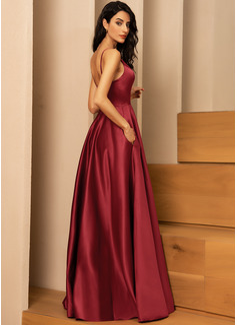A-Linien-Kleid Ärmellos Maxi Romantisch Sexy Modekleider