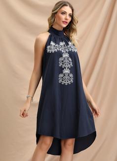 Print Shift Sleeveless Midi Party Dresses